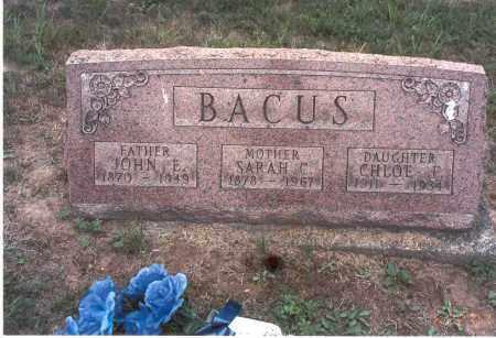 BACUS, JOHN E. - Vinton County, Ohio | JOHN E. BACUS - Ohio Gravestone Photos