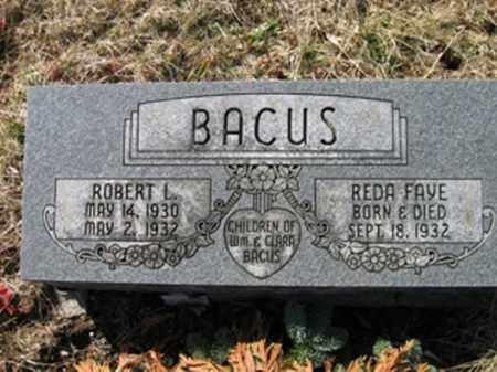 BACUS, REDA FAYE & ROBERT LOREN - Vinton County, Ohio | REDA FAYE & ROBERT LOREN BACUS - Ohio Gravestone Photos