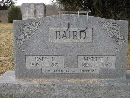 LONG BAIRD, EARL STANLEY AND MYRTIE - Vinton County, Ohio | EARL STANLEY AND MYRTIE LONG BAIRD - Ohio Gravestone Photos