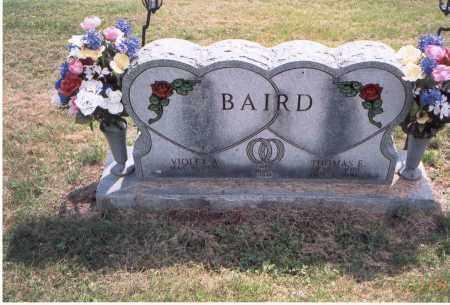 BAIRD, THOMAS E. - Vinton County, Ohio | THOMAS E. BAIRD - Ohio Gravestone Photos
