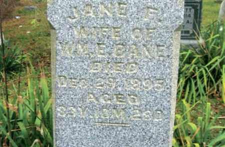 BANE, JANE F. - Vinton County, Ohio | JANE F. BANE - Ohio Gravestone Photos