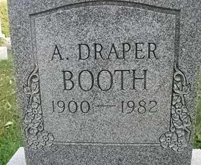 BOOTH, A. DRAPER - Vinton County, Ohio   A. DRAPER BOOTH - Ohio Gravestone Photos