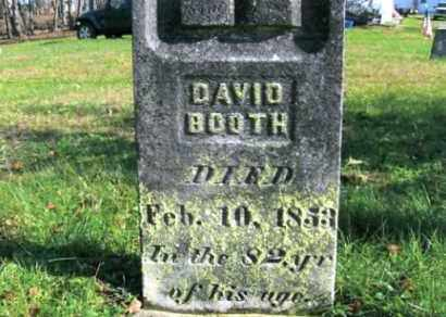 BOOTH, DAVID - Vinton County, Ohio | DAVID BOOTH - Ohio Gravestone Photos