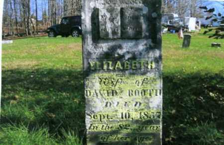 BOOTH, ELIZABETH - Vinton County, Ohio | ELIZABETH BOOTH - Ohio Gravestone Photos