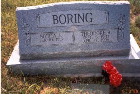 JEFFERS BORING, MYRTA J. - Vinton County, Ohio | MYRTA J. JEFFERS BORING - Ohio Gravestone Photos