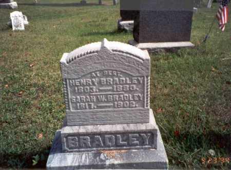 DOUGLASS BRADLEY, SARAH W. - Vinton County, Ohio | SARAH W. DOUGLASS BRADLEY - Ohio Gravestone Photos