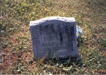 BRATTON, WILLIAM EARL - Vinton County, Ohio | WILLIAM EARL BRATTON - Ohio Gravestone Photos