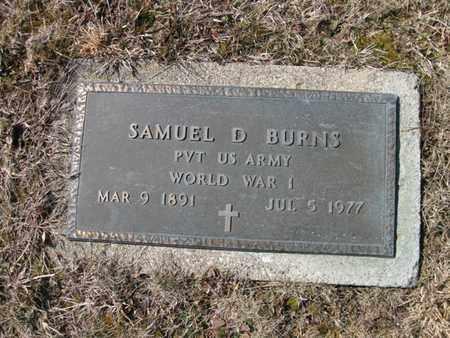 BURNS, SAMUEL DAVID - Vinton County, Ohio   SAMUEL DAVID BURNS - Ohio Gravestone Photos