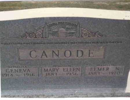 CANODE, MARY ELLEN - Vinton County, Ohio | MARY ELLEN CANODE - Ohio Gravestone Photos
