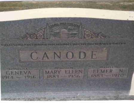 CANODE, ELMER N. - Vinton County, Ohio | ELMER N. CANODE - Ohio Gravestone Photos