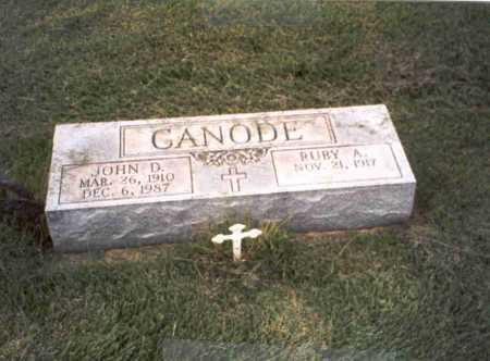 CANODE, RUBY A. - Vinton County, Ohio | RUBY A. CANODE - Ohio Gravestone Photos