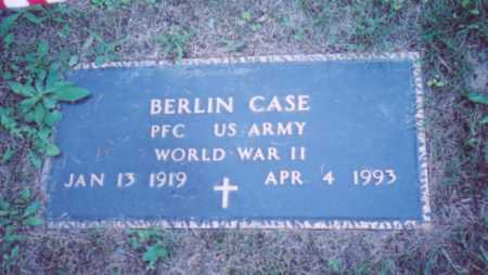 CASE, BERLIN (MILITARY STONE) - Vinton County, Ohio | BERLIN (MILITARY STONE) CASE - Ohio Gravestone Photos