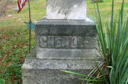 CHEADLE, CLOSE-UP - Vinton County, Ohio | CLOSE-UP CHEADLE - Ohio Gravestone Photos