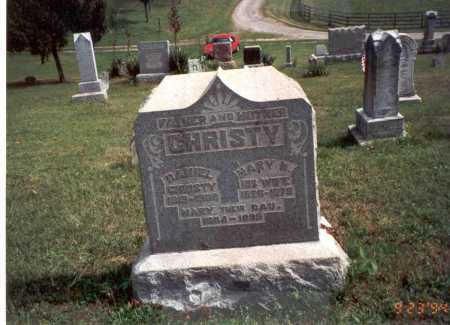 CHRISTY, DANIEL - Vinton County, Ohio | DANIEL CHRISTY - Ohio Gravestone Photos