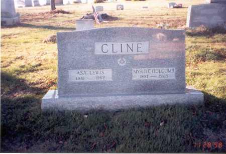 HOLCOMB CLINE, MYRTLE - Vinton County, Ohio | MYRTLE HOLCOMB CLINE - Ohio Gravestone Photos