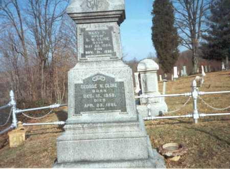 CLINE, GEORGE W. - Vinton County, Ohio | GEORGE W. CLINE - Ohio Gravestone Photos