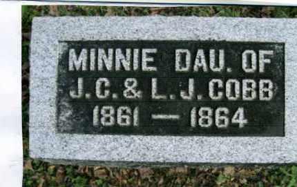 COBB, MINNIE - Vinton County, Ohio | MINNIE COBB - Ohio Gravestone Photos