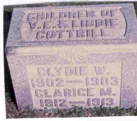 COTTRILL, CLYDIE - Vinton County, Ohio | CLYDIE COTTRILL - Ohio Gravestone Photos