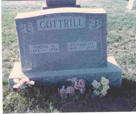 COTTRILL, ELIZABETH - Vinton County, Ohio | ELIZABETH COTTRILL - Ohio Gravestone Photos