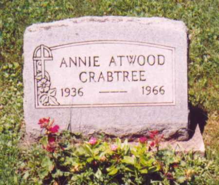 CRABTREE, ANNIE - Vinton County, Ohio | ANNIE CRABTREE - Ohio Gravestone Photos