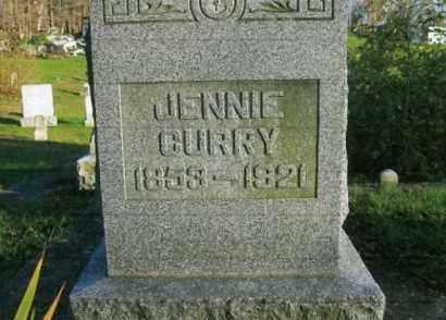 CURRY, JENNIE - Vinton County, Ohio | JENNIE CURRY - Ohio Gravestone Photos
