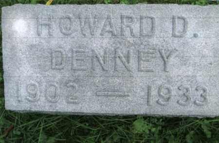 DENNEY, HOWARD D. - Vinton County, Ohio | HOWARD D. DENNEY - Ohio Gravestone Photos