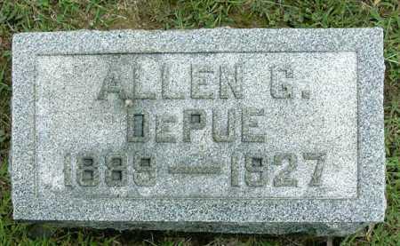 DEPUE, ALLEN GORDEN - Vinton County, Ohio   ALLEN GORDEN DEPUE - Ohio Gravestone Photos