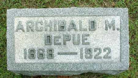 DEPUE, ARCHIBALD MAYS - Vinton County, Ohio   ARCHIBALD MAYS DEPUE - Ohio Gravestone Photos