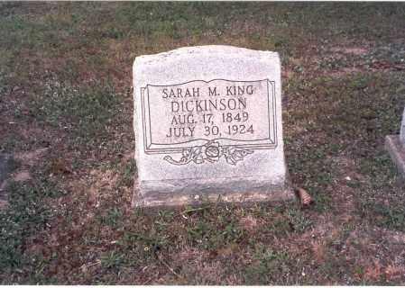 KING DICKINSON, SARAH M. - Vinton County, Ohio | SARAH M. KING DICKINSON - Ohio Gravestone Photos