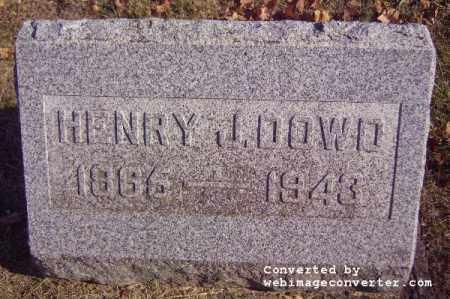 DOWD, HENRY J - Vinton County, Ohio | HENRY J DOWD - Ohio Gravestone Photos