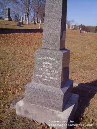 DOWD, PHILANDER - Vinton County, Ohio | PHILANDER DOWD - Ohio Gravestone Photos