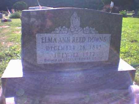 REED DOWNS, ELMA - Vinton County, Ohio | ELMA REED DOWNS - Ohio Gravestone Photos