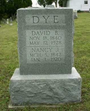 DYE, DAVID BENJAMIN - Vinton County, Ohio | DAVID BENJAMIN DYE - Ohio Gravestone Photos