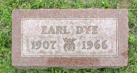 DYE, EARL - Vinton County, Ohio | EARL DYE - Ohio Gravestone Photos