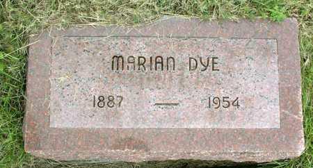 DYE, MARIAN - Vinton County, Ohio | MARIAN DYE - Ohio Gravestone Photos