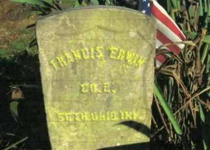 ERWIN, FRANCIS - Vinton County, Ohio | FRANCIS ERWIN - Ohio Gravestone Photos