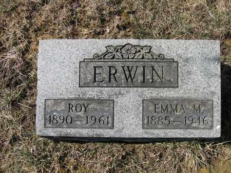 ERWIN, ROY AND EMMA MAE - Vinton County, Ohio | ROY AND EMMA MAE ERWIN - Ohio Gravestone Photos