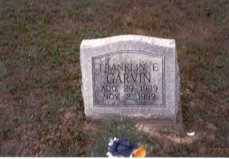 GARVIN, FRANKIN E. - Vinton County, Ohio | FRANKIN E. GARVIN - Ohio Gravestone Photos