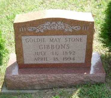 STONE GIBBONS, GOLDIE MAY - Vinton County, Ohio | GOLDIE MAY STONE GIBBONS - Ohio Gravestone Photos