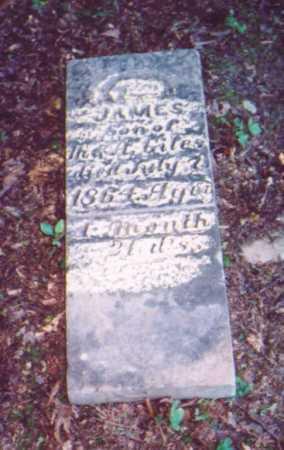 GILES, JAMES - Vinton County, Ohio   JAMES GILES - Ohio Gravestone Photos