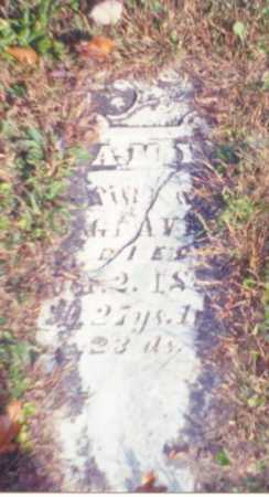 GRAVES, AMY - Vinton County, Ohio | AMY GRAVES - Ohio Gravestone Photos