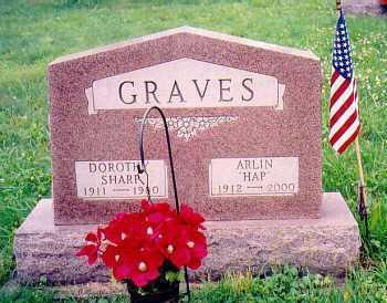 GRAVES, ARLIN BENTLY HAP - Vinton County, Ohio | ARLIN BENTLY HAP GRAVES - Ohio Gravestone Photos