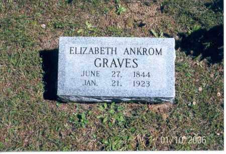 ANKROM GRAVES, ELIZABETH - Vinton County, Ohio | ELIZABETH ANKROM GRAVES - Ohio Gravestone Photos