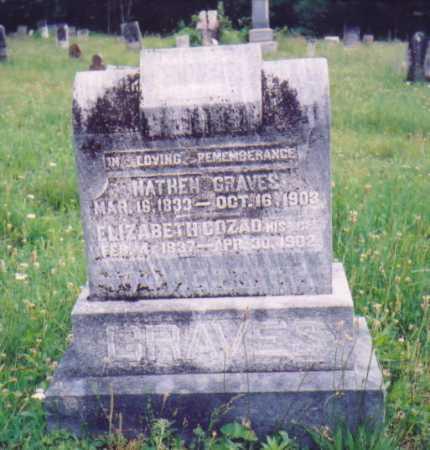 COZAD GRAVES, ELIZABETH - Vinton County, Ohio | ELIZABETH COZAD GRAVES - Ohio Gravestone Photos