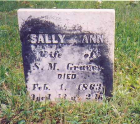 GRAVES, SALLY ANN - Vinton County, Ohio | SALLY ANN GRAVES - Ohio Gravestone Photos