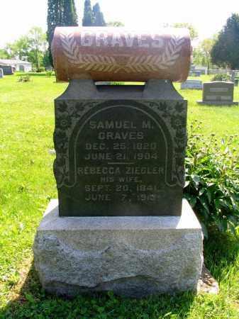 GRAVES, SAMUEL M - Vinton County, Ohio | SAMUEL M GRAVES - Ohio Gravestone Photos