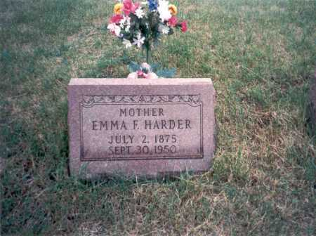 HARDER, EMMA - Vinton County, Ohio   EMMA HARDER - Ohio Gravestone Photos