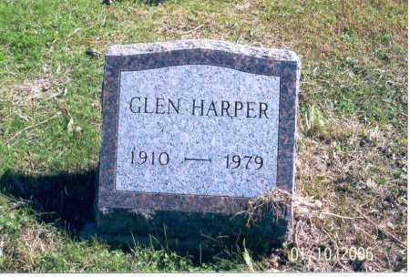 HARPER, GLEN - Vinton County, Ohio | GLEN HARPER - Ohio Gravestone Photos