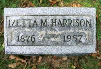 HARRISON, IZETTA M. - Vinton County, Ohio   IZETTA M. HARRISON - Ohio Gravestone Photos
