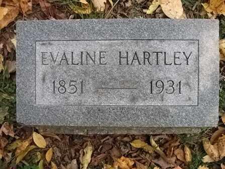 HARTLEY, EVALINE - Vinton County, Ohio | EVALINE HARTLEY - Ohio Gravestone Photos